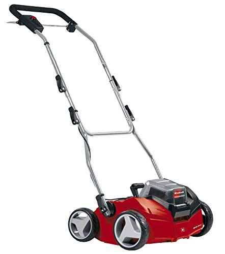 Einhell Cordless Scarifier GE-SC 35/1 Li Solo Power X-Change (2 x 18V, Working width of 35 cm, sCarifying depth up to 9 mm, Brushless Motor, Supplied without Batteries & Charger)