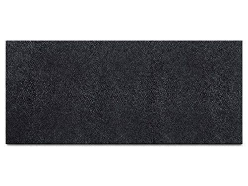 Schmutzfang-Teppich-Läufer Meterware PICOLLO - Anthrazit, 2,00m x 1,50m, Rutschfester Küchenläufer, Robuste Sauberlauf-Matte