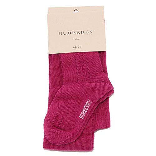 BURBERRY 6775U calzamaglia bimba cotone fucsia calze tights kid [31/32]