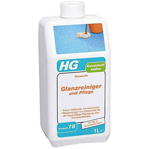 HG Kunststoffböden Glanzreiniger und Pflege 1L – Frisch Duftend - Alle Arten von Kunststoffböden - Pflegt und bringt zum Glänzen