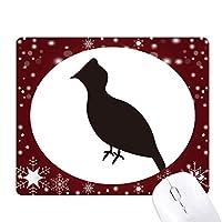 クロライチョウの動物の描写 オフィス用雪ゴムマウスパッド