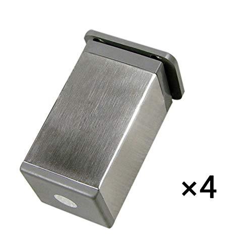 Möbelfüße - 4er-set - Küchenschrankfüße Aus Edelstahl - 12 Mm Verstellbarer Schrank Sofa Couchtisch Stützbeine, Gebürstetes Silber