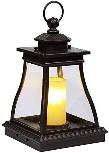 Luz de poste Linterna portátil mármol sombra al aire libre Forma E14 Pon vela se enciende la lámpara de escritorio de la decoración del piso lámpara de mesa Jardín Linterna de la vela cubierta de césp
