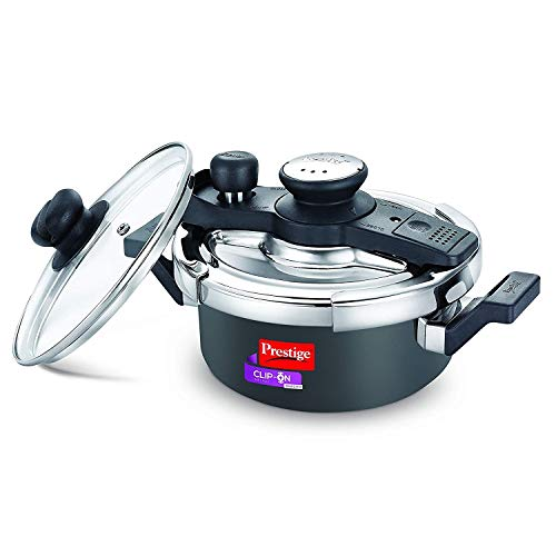 Prestige Svachh Clip-on Mini Hard Anodized 2 Litre Pressure Cooker