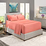 Nestl Extra Deep Pocket Sheets – Deep Pocket King Size Sheet – Hotel Deep Bed Sheets - Deep Pocket King Fitted Sheet Super Deep Sheets fits 18 Inch to 24 Inches Mattress 6 Piece Misty Rose King Sheet