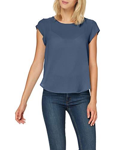 ONLY Damen ONLVIC S/S SOLID TOP NOOS WVN T-Shirt, Vintage Indigo, 42
