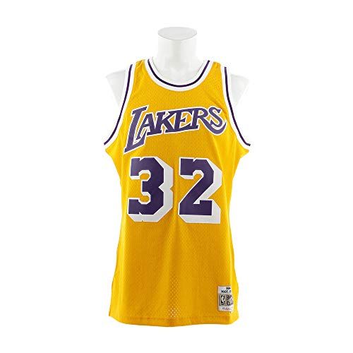 Magic Johnson Los Angeles Lakers Mitchell and Ness Men's Gold Throwback Jesey Large
