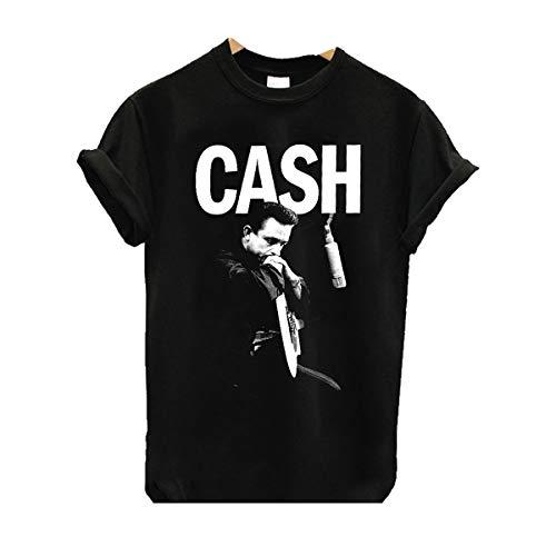 LMXOOL Johnny American Cash Rebel Mugshot T-Shirt Black