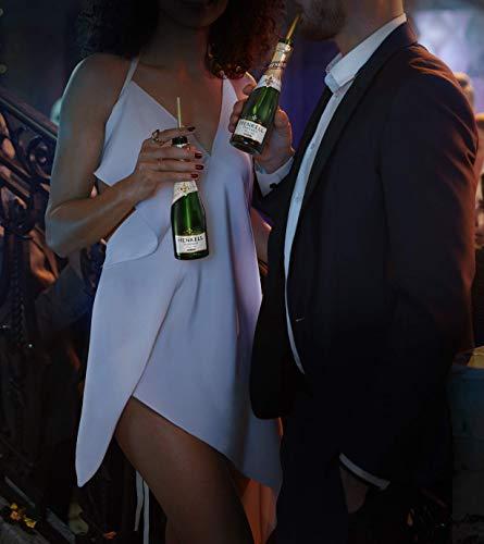 Henkell Feiner Sekt, Trocken, 11,50% Alkohol (12 x 0,2l Flaschen) – Chardonnay-Cuvée in handlicher Piccoloflasche - 4