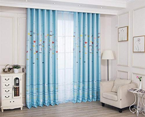 GHJYU Children Printing Lovely Animal Blackout Curtains High-grade Decoration For Home Parlor Sitting Room Bedroom Living Room,B,W250cm x L240cm