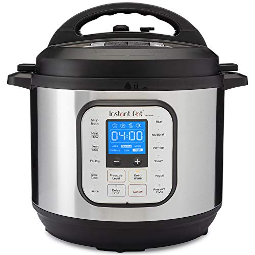Instant Pot Duo Nova 7-in-1 Electric Pressure Cooker, Sterilizer, Slow Cooker, Rice Cooker, Steamer, Saute, Yogurt Maker, and Warmer, 8 Quart, Easy-Seal Lid, 14 One-Touch Programs