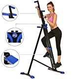 Hurbo Vertical Climber Home Gym Exercise Folding Climbing Machine Exercise Bike for Home Body Trainer Stepper Cardio Workout Training Non-Stick Grips Legs Arms Abs Calf (Blue)