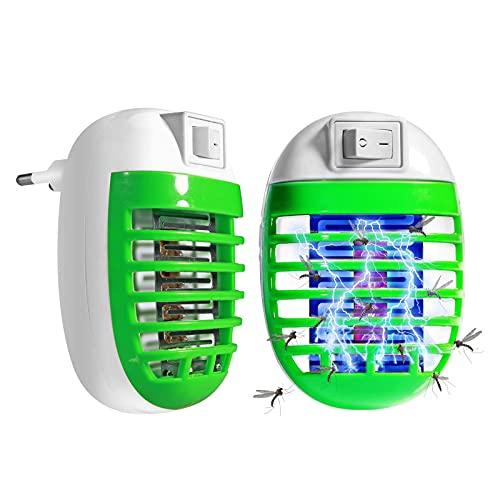 otutun Fishoaky Anti-Moskito-Abwehr gegen Mücken, UV Mückenschutz,Elektrischer Insektenvernichter,Mini Fliegenfalle, für Fliegen, Mücken, Motten, Küche, für Schlafzimmer, Innen (2 Packs)