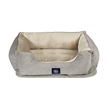 Serta Ortho Cuddler Pet Bed, Grey