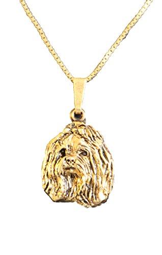 Kettenanhänger vergoldet Hunde Malteser [k046]