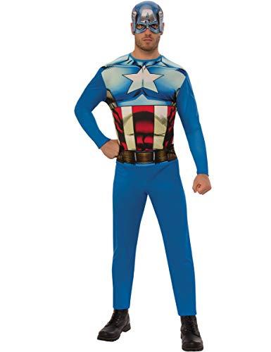 Rubie's-déguisement officiel - Marvel-Déguisement Captain America adulte- Taille Unique- I-820955STD