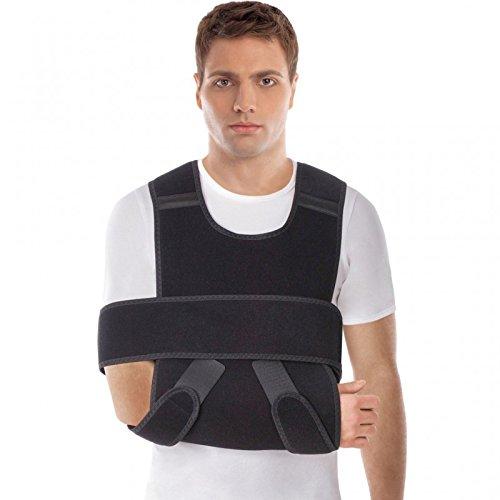 Schulterstütze mit Bandage Armschlinge aus dem hochwertigsten Neopren Schwarz Medium