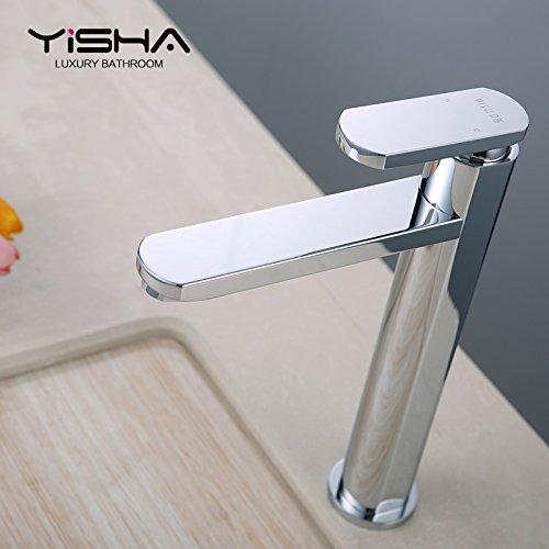 Maifeini elevar el cobre lavabo grifo baño caliente y frío lavabo encima de la encimera lavabo lavabo grifo