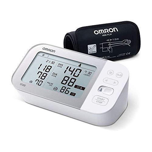 Omron Tensiómetro X7 Smart, monitor para la presión arterial con detector de AFib y Bluetooth, para el hogar y, compatible con dispositivos iOS y Android