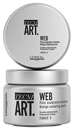 L\'Oréal Professionnel Paris Tecni.ART Web Paste, Stylingpaste/Haarwachs, Haltfaktor 5 von 6, Clay mit starkem Halt, fixiert jede Frisur langanhaltend, Strukturpaste mit ultra langem Halt, 150 ml