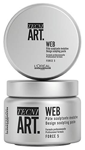 L'Oréal Professionnel Tecni.ART Web Paste, Stylingpaste/Haarwachs, Haltfaktor 5 von 6, Clay mit ultra langem und starkem Halt, 150 ml