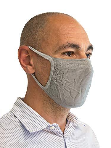 Relaxsan - SET 3 [silver] Fasce filtranti viso bocca naso lavabili riutilizzabili assorbenti tessuto batteriostatico