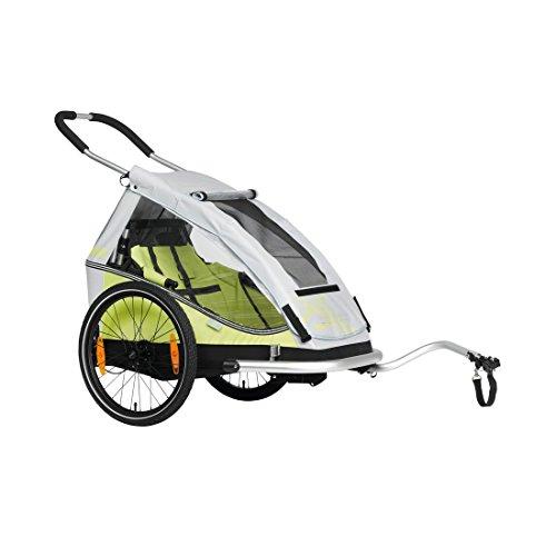3092000608VAR - Remolque bicicleta para llevar niños MONO8TEEN 20 2018 BS-C08 COLOR VERDE
