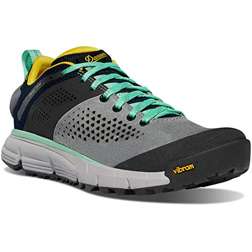 Danner Trail 2650 - Zapatillas de senderismo para mujer (7,6 cm), (Gris/Azul/Amarillo Spectra), 41 EU