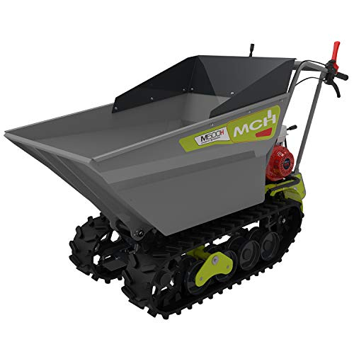 MCH M500HD Motorised Wheelbarrow with Caterpillars, Mini Compact Transporters up to 500 kg, MCH Motor with eStart, Box 6+2, RBS technology, Deep Hydraulic Bennage