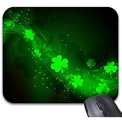 Smity muismat 30 * 25 * 0,3 cm muismat mode ontworpen muismat kantoor en familie desktop pads neon groene klaver muis mat