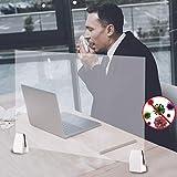 QUUY Acryl Schutzschild Spuckschutz Niesschutz Für Theken, 50x32cm Klares Plexiglasschild Für...