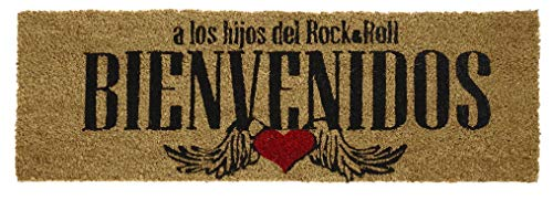 SuskaRegalos - Felpudo Rock and Roll Marron -75X25X1,5cm