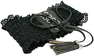 IPOTCH Women's Belt Lace Waist Belt Wide Stretch Belt Wrap Belt Tie Belt Girdle Dress Belt
