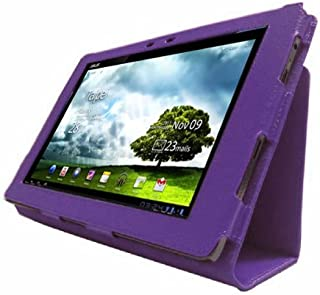 Mochie (tm) Genuine Leather Stand Case Cover for Asus Eee Pad Transformer Prime TF201 Purple (Not for Transformer TF101)
