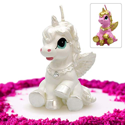 GET FRESH Unicorn Candle for Birthday and Wedding – Premium Quality Unicorn Candle Cake Topper in Gift Box – Elegant Unicorn Cake Decoration Candle for Any Occasion – White Unicorn Birthday Candle