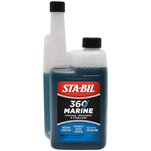 STA-BIL 360 Marine Ethanol Treatment and Fuel Stabilizer - Prevents Corrosion - Helps Clean Fuel System For Improved In-Season Performance - Treats Up To 320 Gallons, 32 fl. oz. (22240)