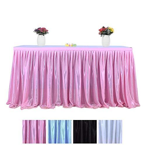 JK Home Tischrock, Tutu, Tüll, Röcke für Geburtstag, Party, Hochzeit, Heimdekoration, Pink, 4,2 m