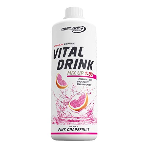 Best Body Nutrition Vital Drink Pink Grapefruit, Getränkekonzentrat, 1000 ml Flasche