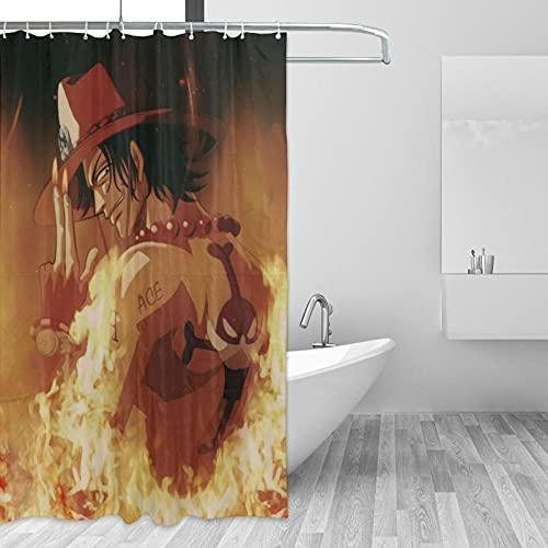 66toys Ace Duschvorhang, 152,4 x 183,9 cm, aus Polyester, wasserdicht, Kunstdruck, Eisen