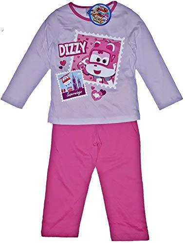 Superwings - Pijama para niña Rosa/Rosa 116 cm