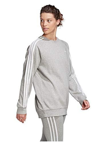 adidas Performance Essential Boyfriend Crew Sweatshirt Damen grau/Weiss, S