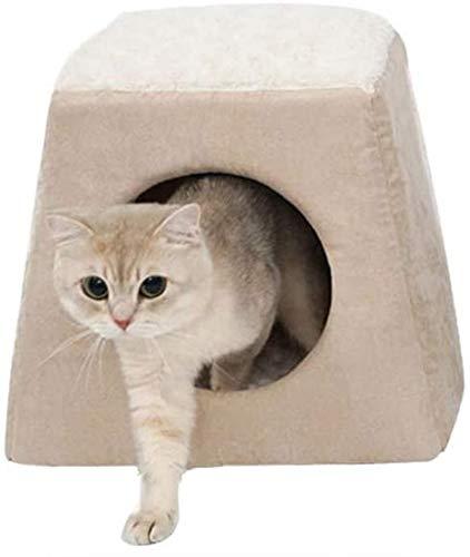 IUYJVR Cama para Mascotas Cama para Perros Arena para Gatos, Arena Artificial para Gatos con Piel de Ciervo, Perrera Universal para Gatos extraíble y Lavable de Cuatro Estaciones, Adecuada para per