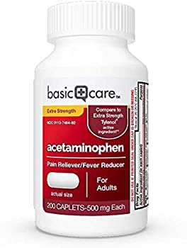 200-Count Amazon Basic Care Extra Strength Pain Relief Caplets
