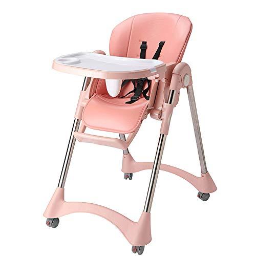 YGMDSL Kind Essensstuhl Multifunktion Baby Klappstuhl Einstellbare Datei Stuhl Essen Tragbar Essecke,Pink