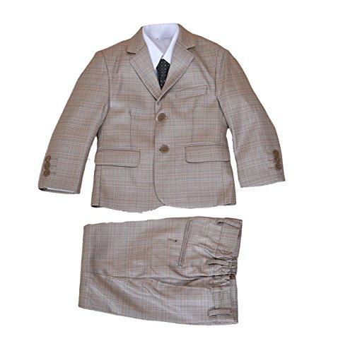 Cinda 5 Stück Boy Anzüge Hochzeit Anzug Junge Seite Partei-Abschlussball -Klagen Beige 128-134