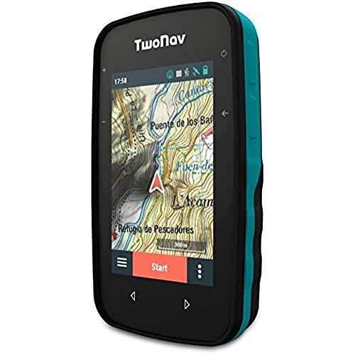 TwoNav - GPS Cross - Multisport Fahrrad MTB Radfahren Wandern Trekking / Kompakt und Leicht / Bildschirm 3,2' / Autonomie 20 h / Speicher 32 GB / Topografische Karte enthalten
