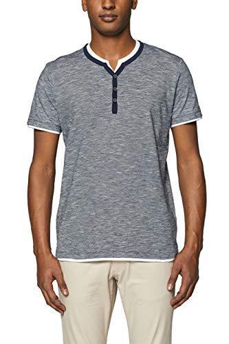 ESPRIT Herren 999EE2K804 T-Shirt, Blau (Navy 400), Large (Herstellergröße: L)