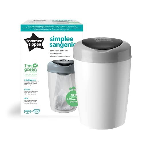 Tommee Tippee 87003102 - Simplee Sangenic pattumiera per lo smaltimento dei pannolini (Grigio)