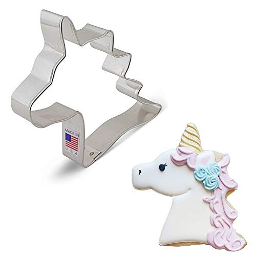 Ann Clark Cookie Cutters Unicorn Head Cookie Cutter, 4'