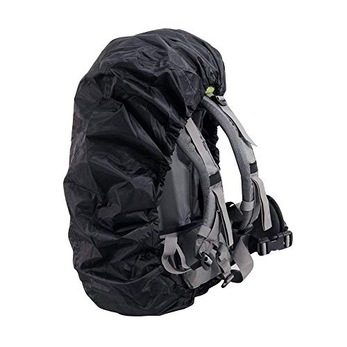 Camping Hiking Rucksack Bag Rain Cover Pouch Travel Backpack Waterproof Pack Covers Rainproof Backpack Case Cover for Outdoor Activities 35L-55L (Black) Durable